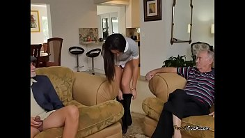 Teen Amy Gets Her Booty Eaten By Old Guy