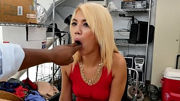 Dick hungry slut takes boss BBC moaning with maximum pleasure