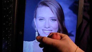 Scarlett Johansson Face and Tits Cum Tribute (Cum Facial)