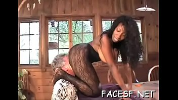 White chick gets her big tits and ass licked by dark fellow