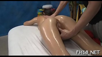 Very sexy 18 year old gorgeous gets drilled hard from behind by her massage therapist