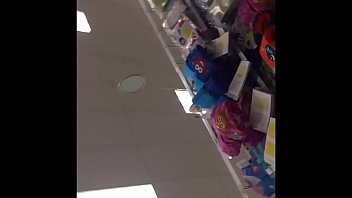 upskirt of mature granny in Target