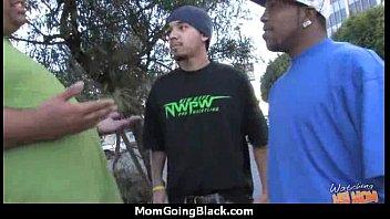hot milf mom make a blowjob and ride a big black cock interracial 16